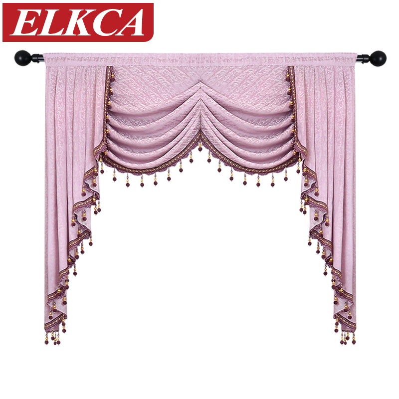 swag curtains for kitchen can i just replace cabinet doors european luxury curtain valances living room waterfall bedroom