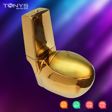 one piece Gold toilet seat gold toilet gold fashion zuopianqi toilet Bathroom siphon flushing egg shape ceramic closestool