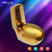 one piece Gold toilet seat gold toilet gold fashion zuopianqi toilet Bathroom siphon flushing egg shape ceramic closestool
