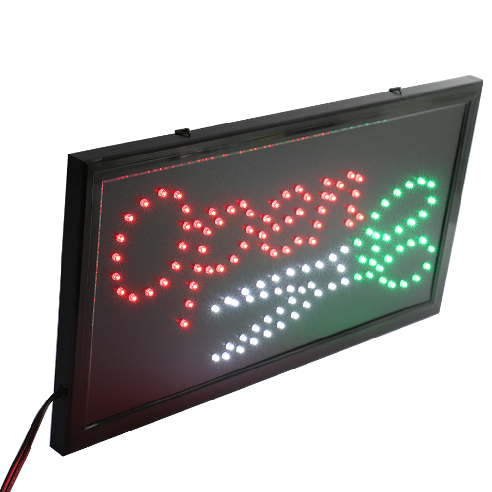 CHENXI Led Hair Cut Barber Shop Business Open Sign Lights Flashing Hair Salon Beauty Store Led Advertising 19*10 Inch Indoor.