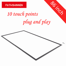 Free driver 86 Inch Multi-Touch Infrared Touch Screen panel 10 points USB IR Multi Touch frame free shipping 98 inch multi touch screen frame 10 points industrial ir touchscreen for monitor 98 ir touch screen