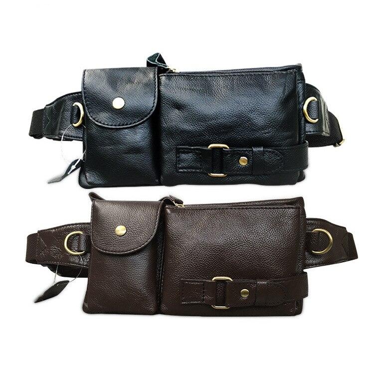La MaxZa Cinturones de Cuero Genuino Fanny Pack Cinturón Bolsa - Bolsas de cinturón