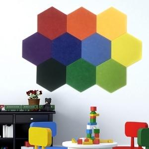 Image 3 - 10Pcs 3D Felt Hexagon Letter Message Board Photo Display DIY Art Home Office Planner Schedule Board Wall Decoration Memo Holder
