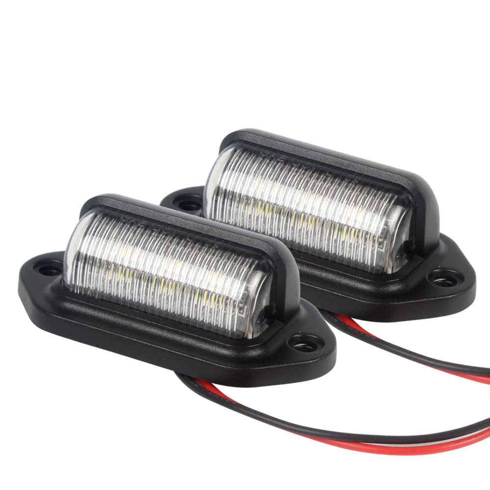 2 PCS Automobile Accessories Rear Lamp Safety LED License Plate Tag Lights Convenience Courtesy Door Step Lamp Motorcycle Lamp