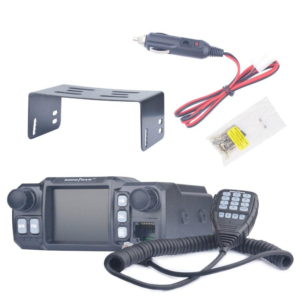 À Moscou De Voiture Mobile Talkie Walkie Amateur Jambon Radio Véhicule Émetteur-Récepteur 136/220/350/440 MHZ 4 bandes UHF VHF Mobile autoradios - 4