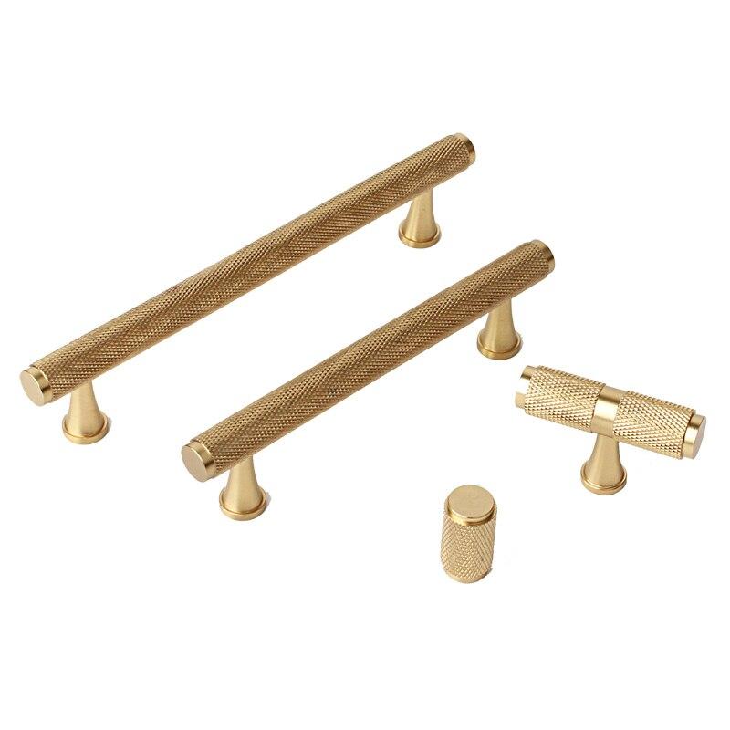 3 75 5 Pure Copper Cabinet Handles Gold Brass T Bar