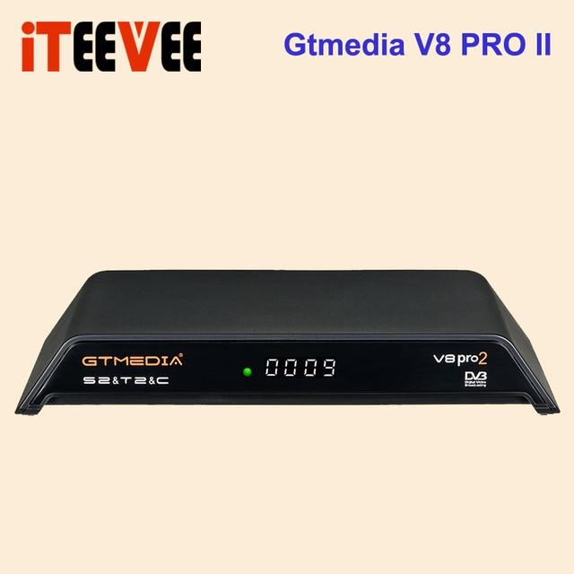 在庫今gtmedia V8 Pro2 DVB S/S2/S2X、dvb + t/T2/ケーブル (J83.A/b/c)/isdbtエージェントbulit wifiサポートフルpowervu、dre & bissキー