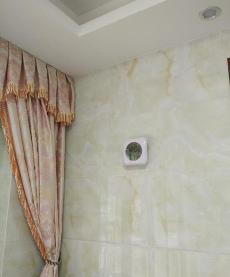 Digital Mandi Jam Tahan Air Relogio de parede Modern Jam Dinding - Dekorasi rumah - Foto 2