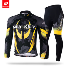 Nuckily summer mens breathable phoenix eyes long sleeve cycling jersey set    MC004MD004 nuckily summer mens bicycle apparel breathable phoenix eyes long sleeve cycling jersey with tights suit mc010md010