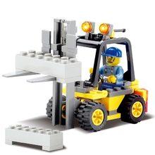 Empilhadeiras de Construção da cidade Blocos de Construção Sets Compatível legoed cidade figuras clássicas Bricks DIY Brinquedos Educação Para O Miúdo