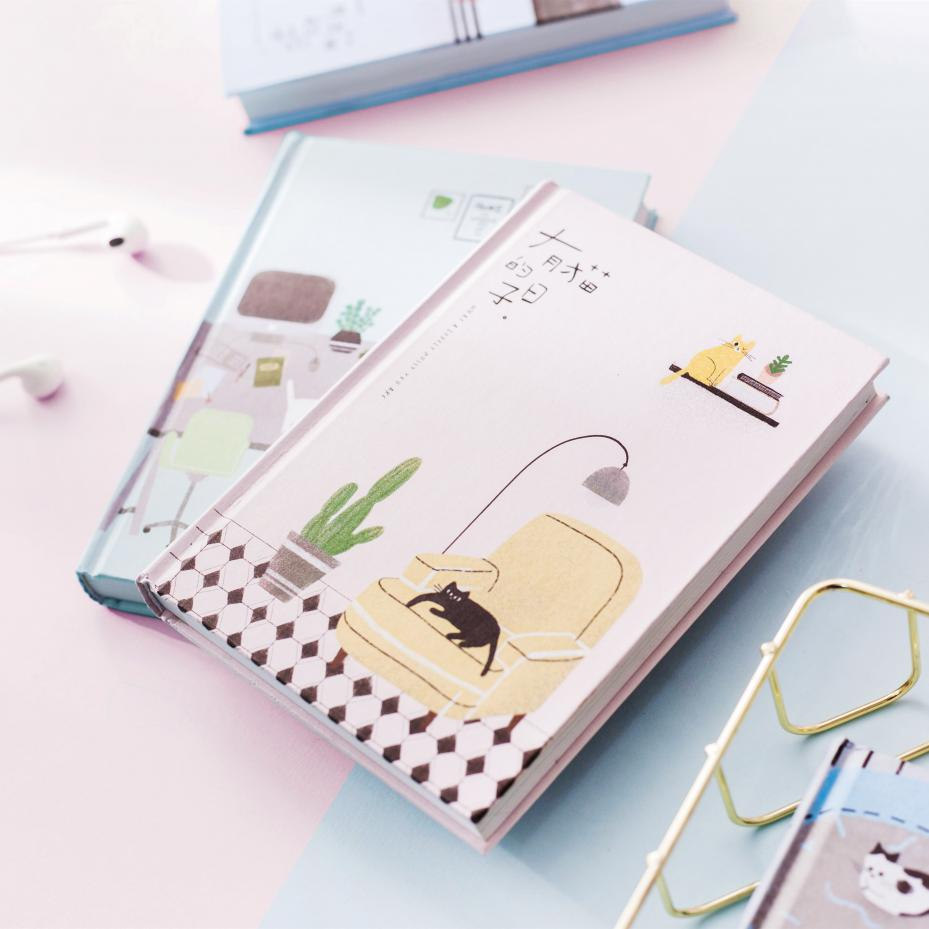 Image 3 - 2019 Korean Kawaii Cute Cat Home Daily Schedule Personal Planner Organizer Notebook Agenda Planbook A5 Best For Student Gift-in Notebooks from Office & School Supplies
