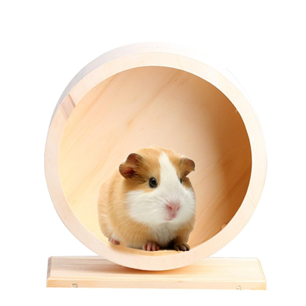 Pet Toys Hamster Exercise Wheel Mute Hamster Running Wheel High Quality Wooden Eco-friendly Pet Toy Wheel Suitable For Hamsters