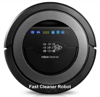 TOP Grade 6in1 Multifunctional Robot Vacuum Cleaner QQ5 Never Touch Charge Base Sonic Wall Auto Checking