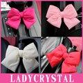 Ladycrystal auto interior acessórios de decoração 3d bonito bowknot decoração de interiores adesivos volante engrenagem do travão de mão