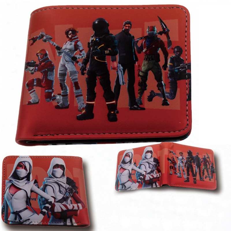 2018 Game Fortnite Battle Royale Wallet Short Purse Card Coin Cash Bag Cartoon Action Figure Toys Card Bag Kids Gift 4 Styles