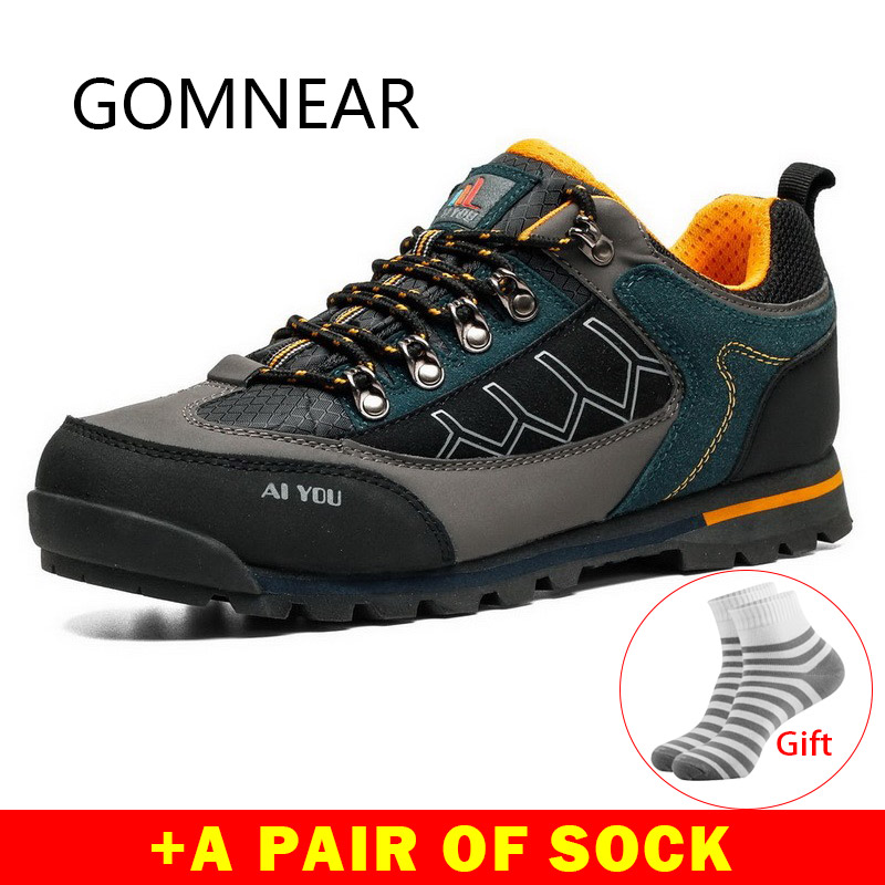 € 38.63 40% de DESCUENTO|GOMNEAR zapatos de senderismo impermeables para Hombre Zapatos tácticos zapatillas de senderismo al aire libre zapatillas de