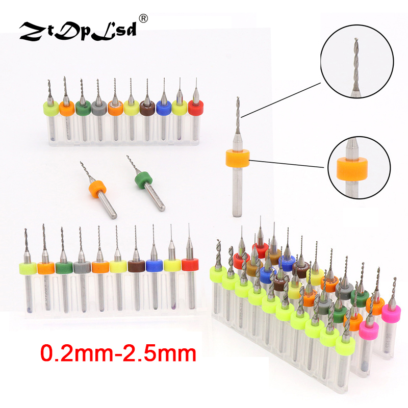 ZtDpLsd 1Pcs 0.2mm-2.5mm PCB Tungsten Carbide Micro Mini Drill Bit CNC Woodworking Glass Cutters Steel Circuit Board Machine tungsten alloy steel woodworking router bit buddha beads ball knife beads tools fresas para cnc freze ucu wooden beads drill