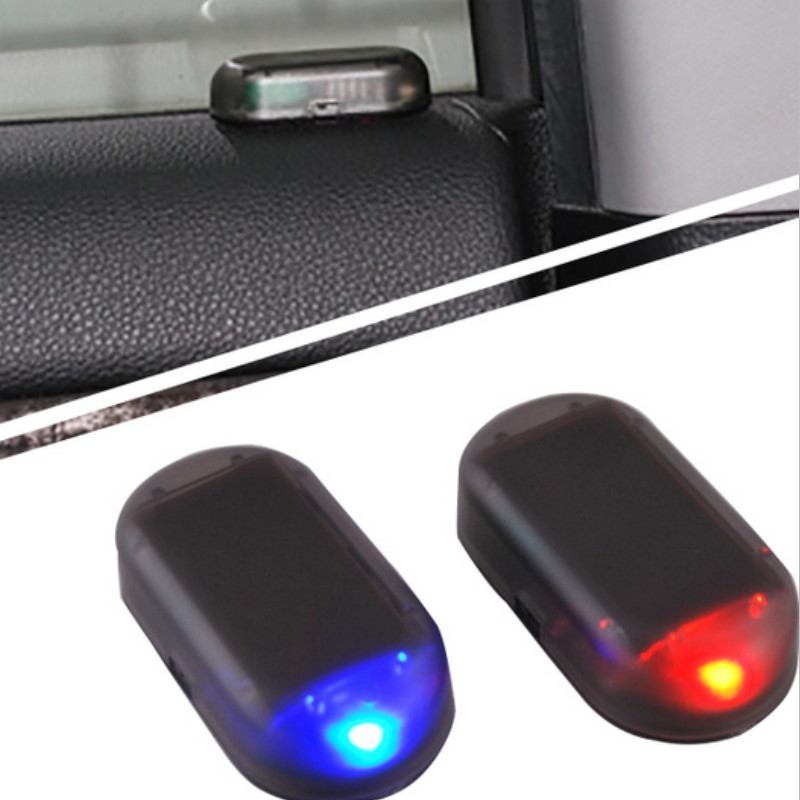 car led alarm lights simulate imitation fake solar security system warning flash anti theft lamp. Black Bedroom Furniture Sets. Home Design Ideas