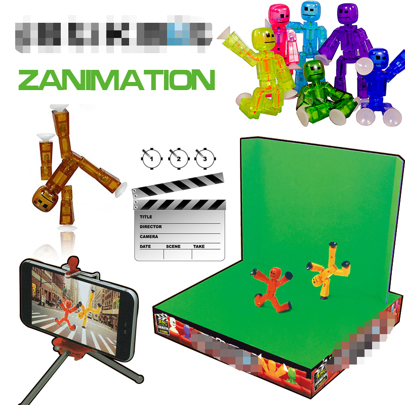 Stikbot Toy Sucker DIY Sticky Robot Anima Z Screen Animation Studio Action Figure Toy Kids Game Toys for Children birthday gift lps toy pet shop cute beach coconut trees and crabs action figure pvc lps toys for children birthday christmas gift