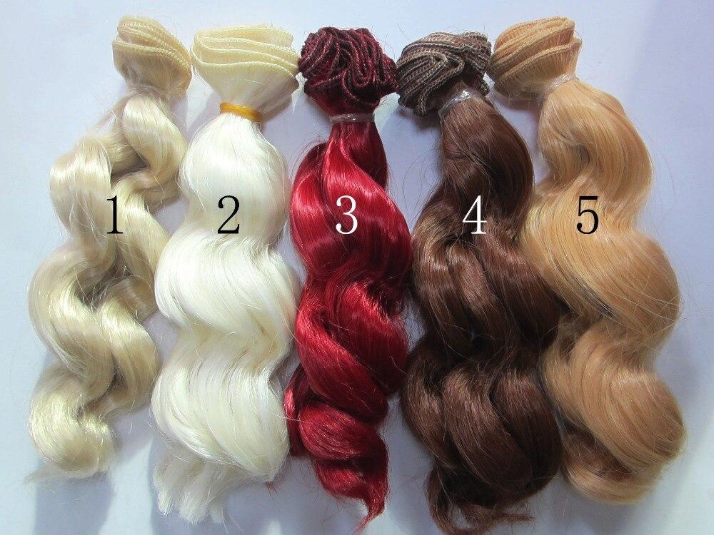 1pcs 15cm 100CM Doll Wigs Hair BJD SD Instant noodles volume High temperature Wire DIY Wigs