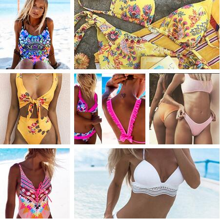 Brazilian Bikinis Women 2017 New Bikini Set Push Up Swimwear Women Summer Beach Wear Sexy Print