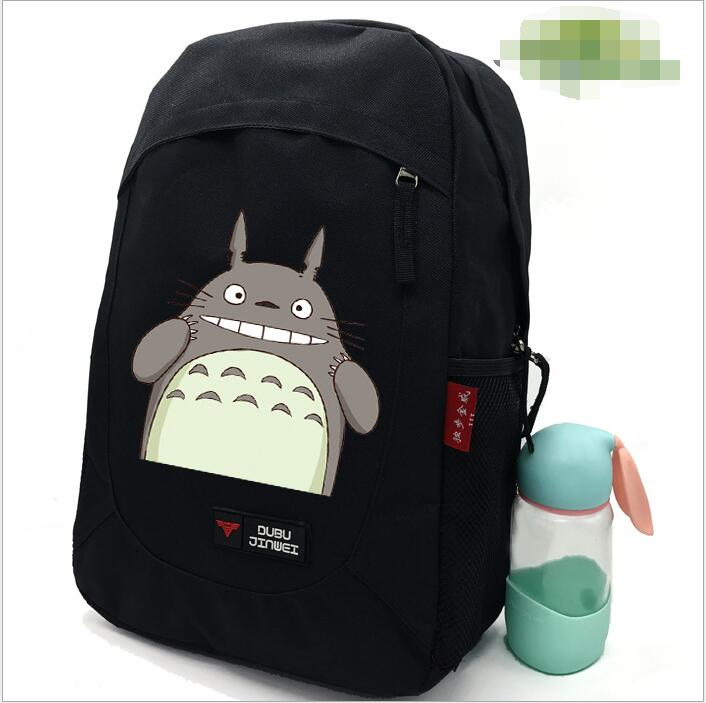 1 piece totoro 3D printing travel softback mochila Schoolbag space backpack notebook back pack