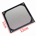 30 UNIDS LOT Carcasa de Aluminio Anodizado de 120mm Ordenador Fan Filter Guardia Grill Anti-polvo Negro
