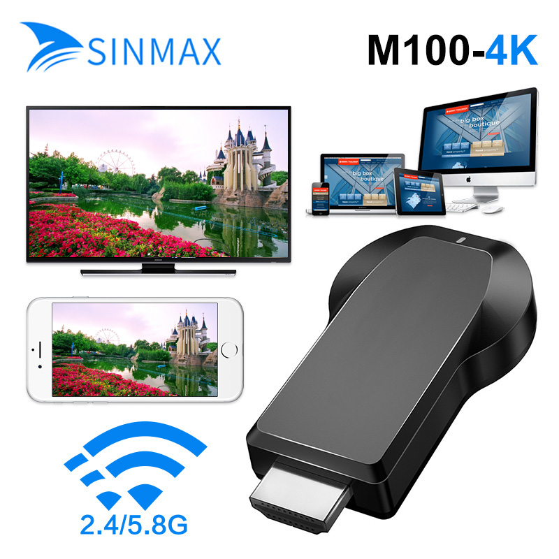 10 Pc Dual Band 2.4 + 5g 4 K Draadloze Wifi Display Dongle Ontvanger 1080 P Hd Tv Stick Miracast Airplay Dlna Mirroring Hdtv Projector Kortingen Sale