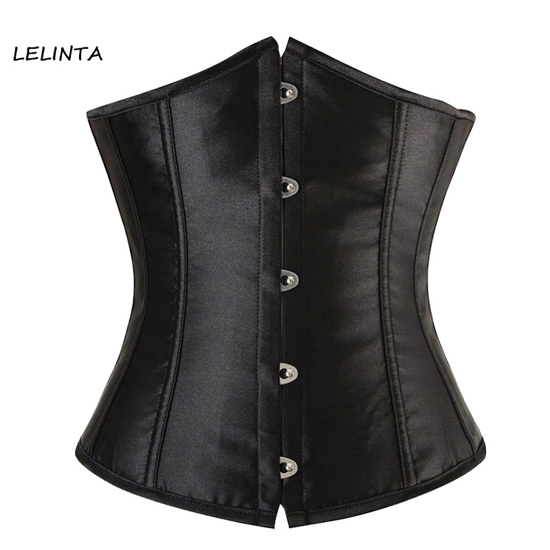 LELINTA Womens Sexy Lace Up Underbust Waist Trainer Bustiers Corset Steampunk Top Cincher Plus Size S-6XL Shaper for Weight Loss