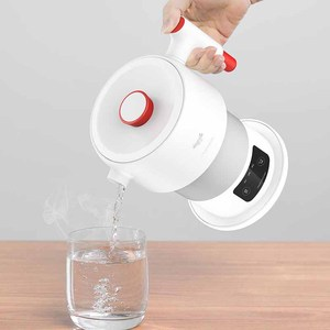 Image 2 - Deerma للطي غلاية كهربائية 0.6L السفر المحمولة غلاية المياه عرض درجة الحرارة الذكية التحكم باللمس العزل وعاء