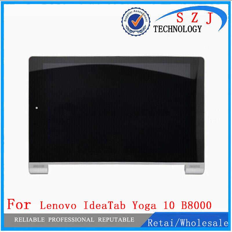 Yeni 10.1 ''inç Lenovo Yoga Tablet 10 için B8000 B8000-H tam lcd ekran paneli dokunmatik ekranlı sayısallaştırıcı grup çerçeve ile