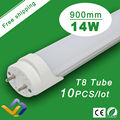 Free Shipping  10pcs/lot   Factory Wholesale 14W T8 0.9m    AC85-265V 50000H Lifespan CE RoHS Super Bright 3ft LED Tube