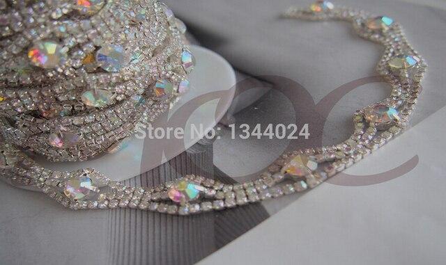 10CM Lot 1.3cm Width Crystal AB Beautiful Rhinestone Bridal Trim Rhinestone  Chain for Browband 13a598cc5ca7