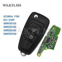 2 Buttons OEM Remote Flip Car Key For Ford Ranger C Max Focus Grand C Max Mondeo 5WK50165 5WK50166 5WK50168 5WK50169