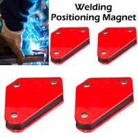 4 pçs/set mini triângulo posicionador de soldagem 9lb magnética ângulo fixo ferramentas localizador solda sem interruptor acessórios soldagem