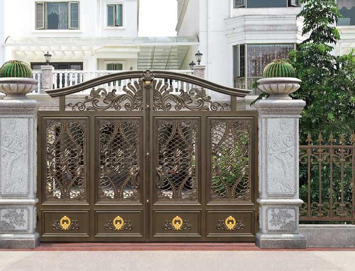 Home aluminium gate design / steel sliding gate / Aluminum fence gate designs hc-ag5