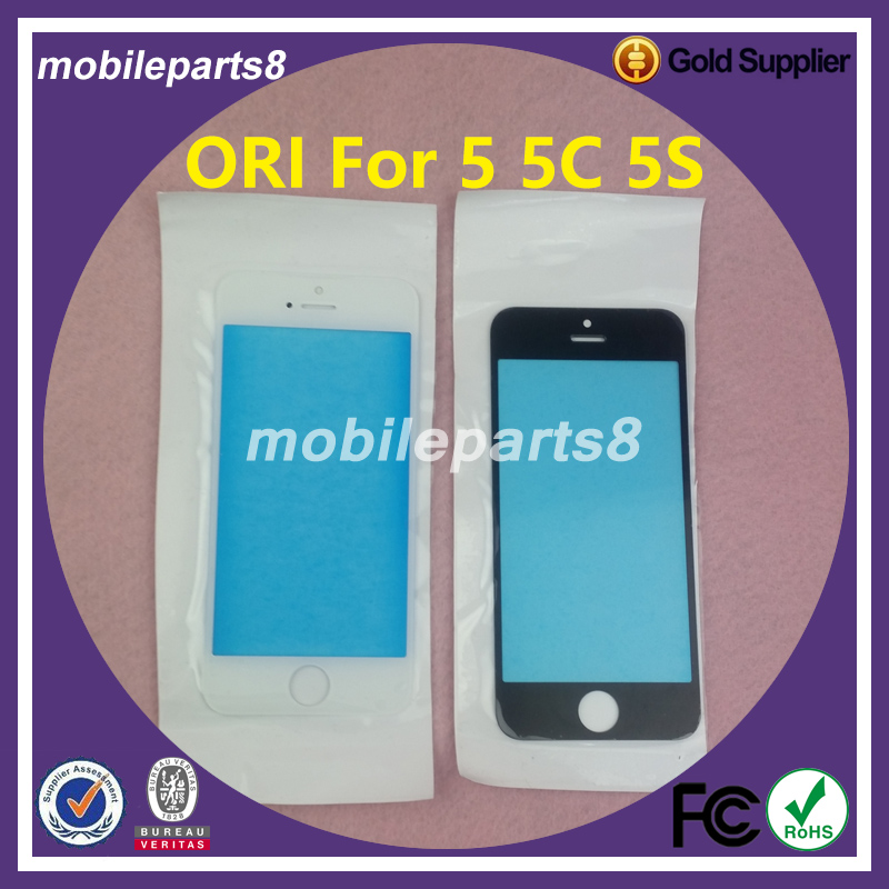 10pcs/lot Fress shipping fee touch screen glass (not digitizer)for iPhone 5 5C 5S Front Screen Outer Glass Replacement ori