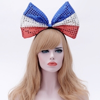 2018 Fashion Cat Ears Bows For Women Fans Head Band Bow Hairbands Hoop Hair Accessories Ornaments