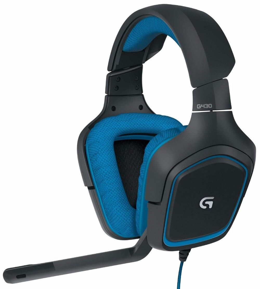 2018 nouveau produit, casque de jeu à son Surround Logitech G430 avec technologie Dolby DTS 7.1