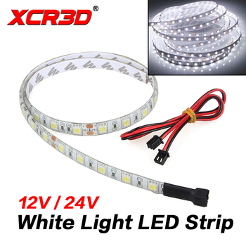XCR3D 3D Printer Parts White Light LED Strip for Lergde-S Lerdge-X Motherboard 12V 24V Length 60cm with Connect cable Lighting free shipping 3dsway 3d printer board lerdge x motherboard arm 32 bit controller with 3 5 tft for education diy 3d printer