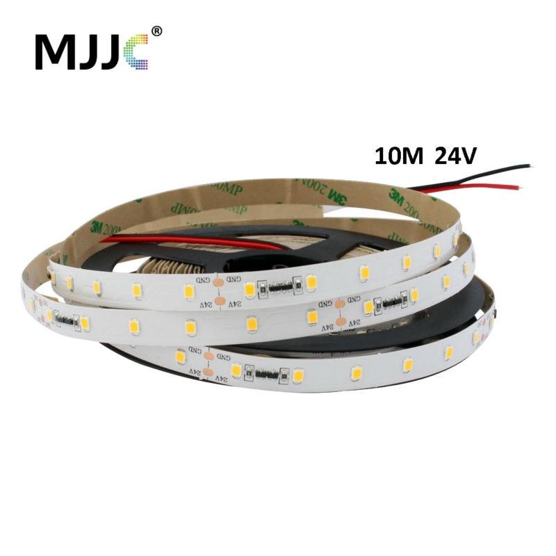 Светодиодный светильник с постоянным током, 10 м, 24 В, DC SMD 2835, светодиодный декоративный светильник, гибкая лента, Светодиодная лента, светильник, теплый холодный белый цвет