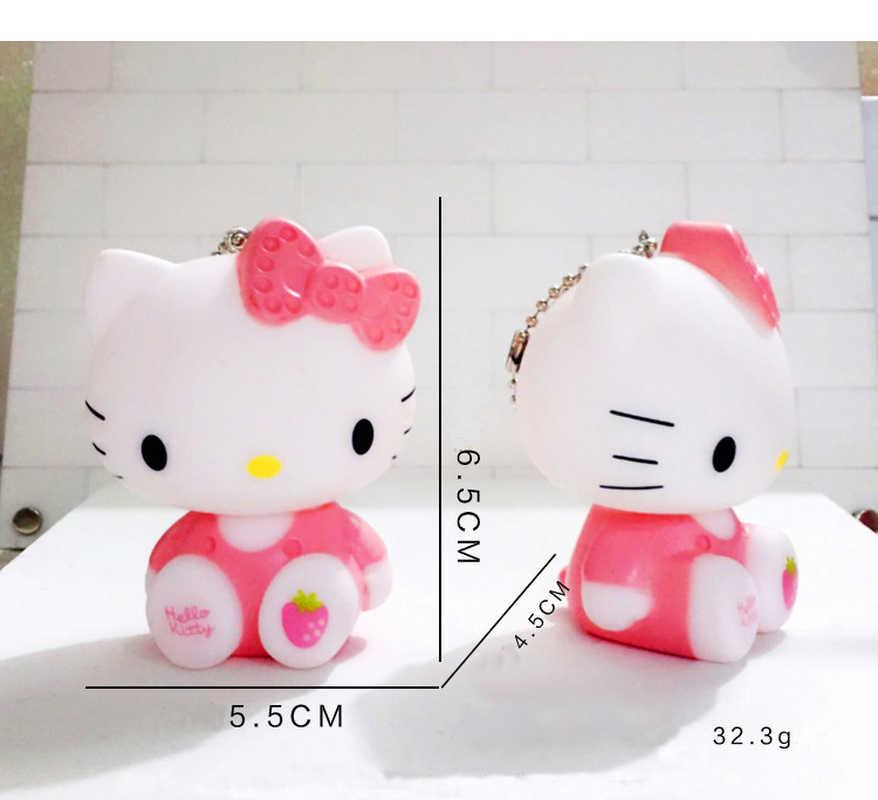 f0986aa91 ... Cartoon Dolls Cat Hello Kitty Keychain Leather Rope Bell Porte Clef Car  Key Ring KT Key