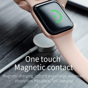 Image 3 - HOCO For iWatch Wireless Charger Portable Quick Charge Watch Pad 1m Cable Fast wireless Charging for Apple iWatch 1 2 3 4