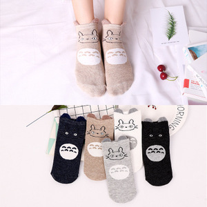 5Pairs/lot Kids Ankle Socks Cute Children Unicorn Socks For Girls Boys Seamless Ankle White Soft Cotton Socks 6 8 10 12 Years