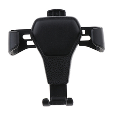 Universal Leather Grain Pattern Gravity Car Phone Holder Clip Air Vent Mount Stand (Fits 4-7 inch)