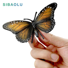 Mini cute Butterfly Simulation animal model PVC insect figurine home decor miniature fairy garden decoration accessories statue