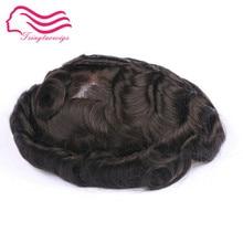 Хорошие евро волосы слегка волнистые запас французские кружева мужчины, замена волос, мужской парик с хорошими волосами природы