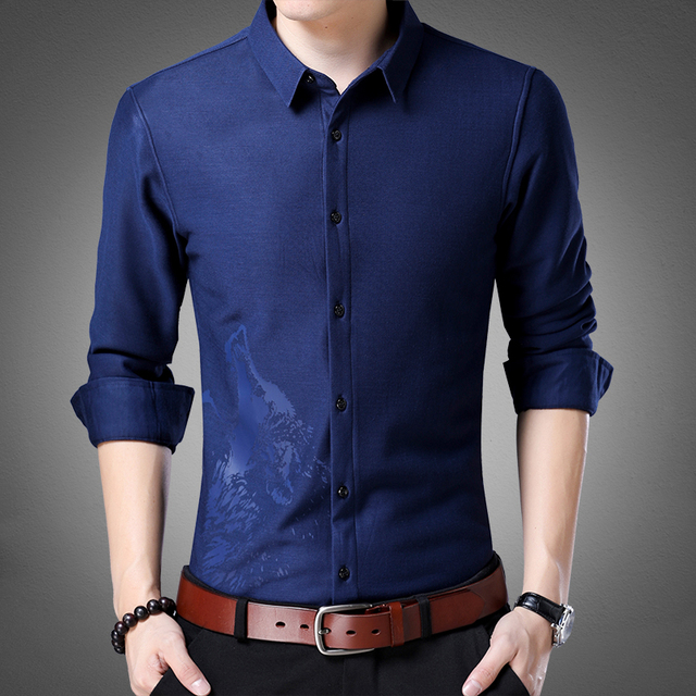 0f22405e US $44.9 |2017 Autumn Winter Men Shirts Man Long Sleeve Casual Plus Size  4xl Plus Cashmere Thicken Male Dress Shirts Tops-in Casual Shirts from  Men's ...