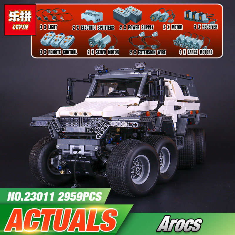 2017 New LEPIN 23011 2959 Pcs Technic Series Off-road vehicle Model Building Kits Block Bricks Compatible Educational Boy Toys