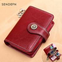 2018 New Women Split Leather Fashion Wallets and Purses Zipper Coin Purse Female Money Bag Credit Bank ID Card Case Holder